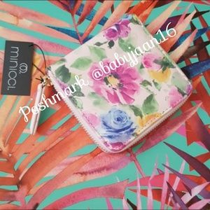 NWT Small Minicci Floral Wallet/Card Holder